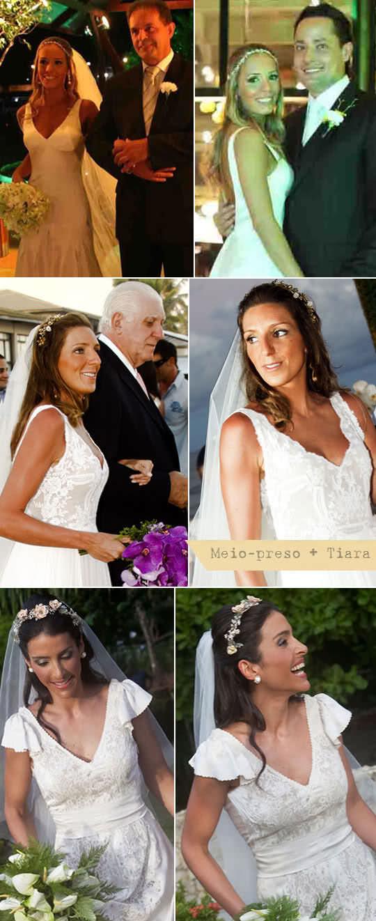 penteado noiva meio preso tiara