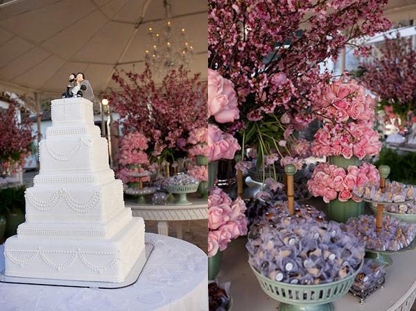 mesa de doces casamento flor de cerejeira