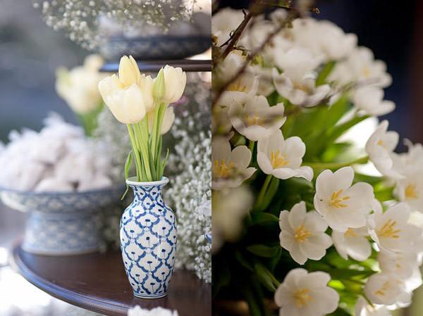 decoracao casamento tulipas brancas