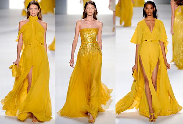 vestido amarelo madrinha casamento elie saab