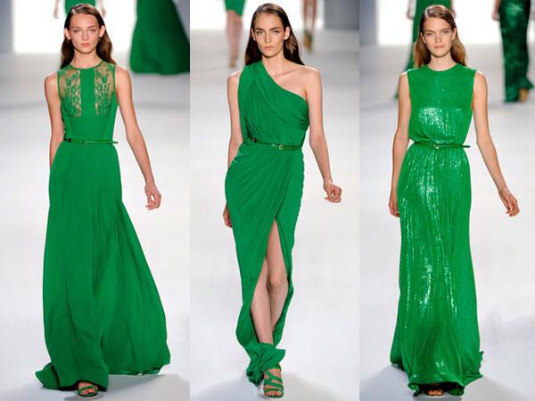 vestido verde madrinha casamento elie saab