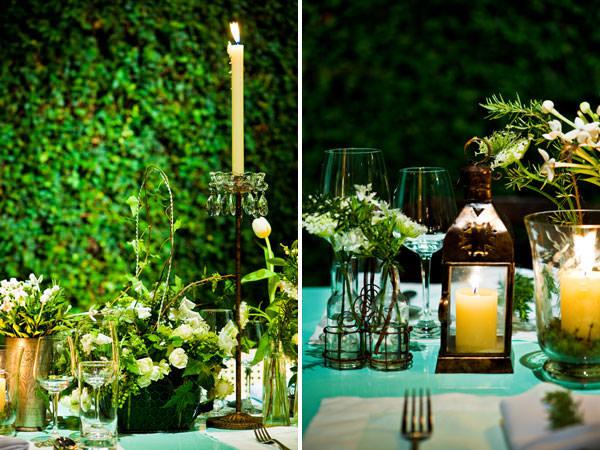 decoração casamento verde branco manioca
