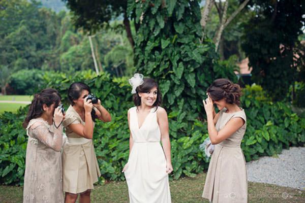 vestido madrinha de casamento bege