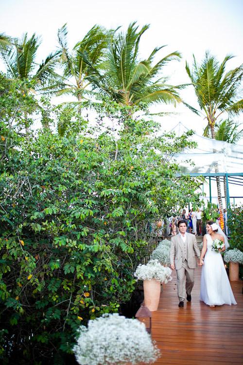 decoração casamento tropical