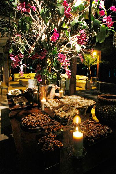 decoração casamento orquídeas rosa