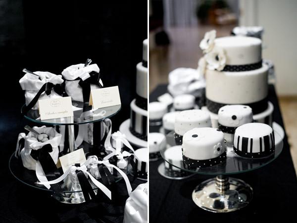 chá-bar decoração preto e branco