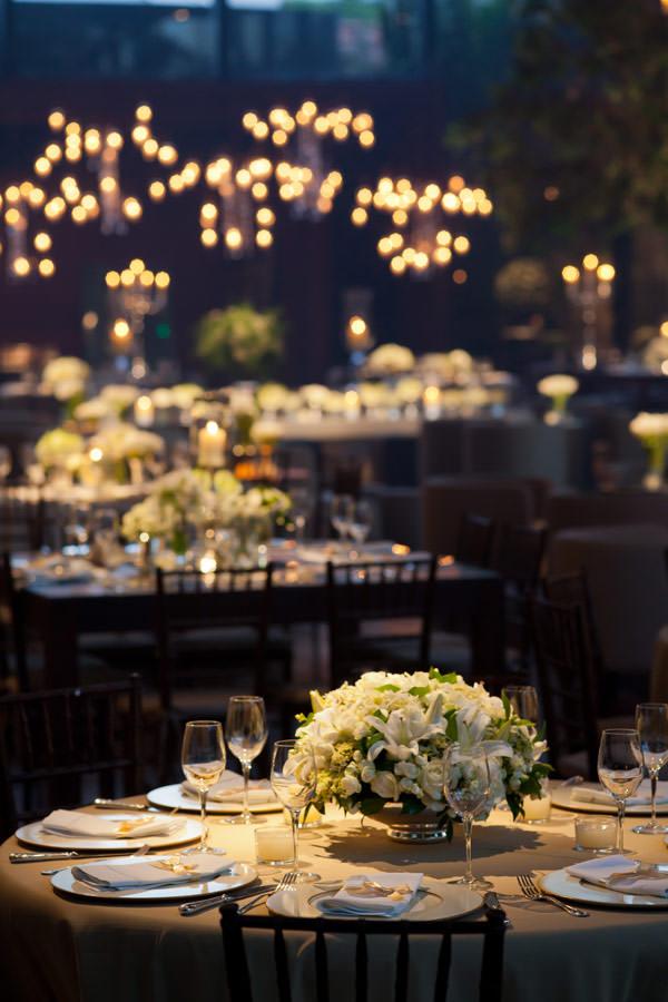 decoração de casamento branco