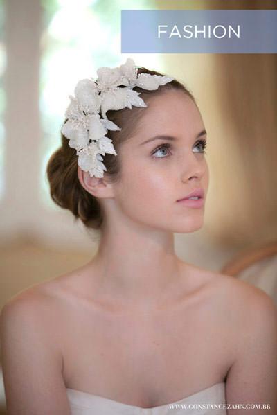pente de flores de paetê noiva