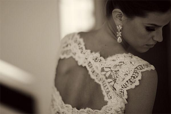 vestido de noiva decote nas costas