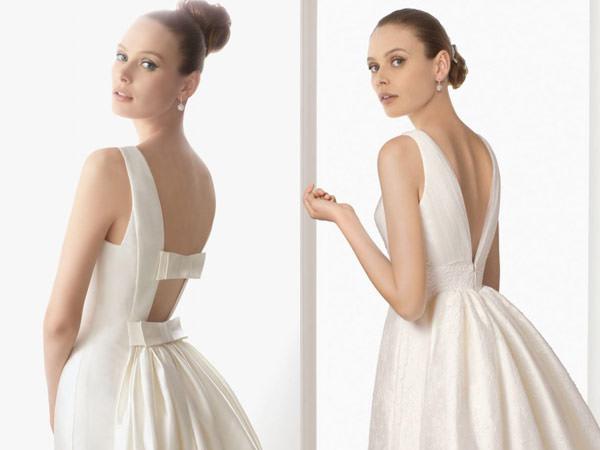 vestidos de noiva com decote nas costas