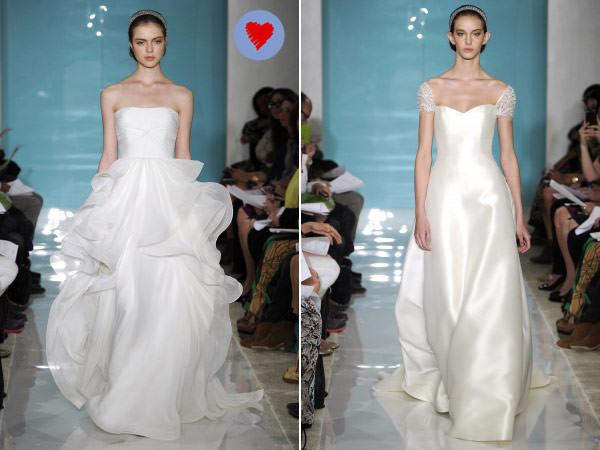 Vestidos de noiva Reem Acra - Spring 2013
