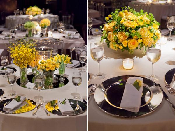decoração casamento branco amarelo