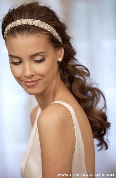 penteado noiva meio preto headband constance zahn