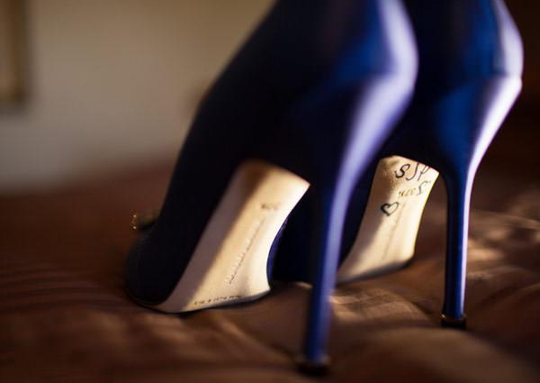 sapato noiva azul Manolo Blahnik
