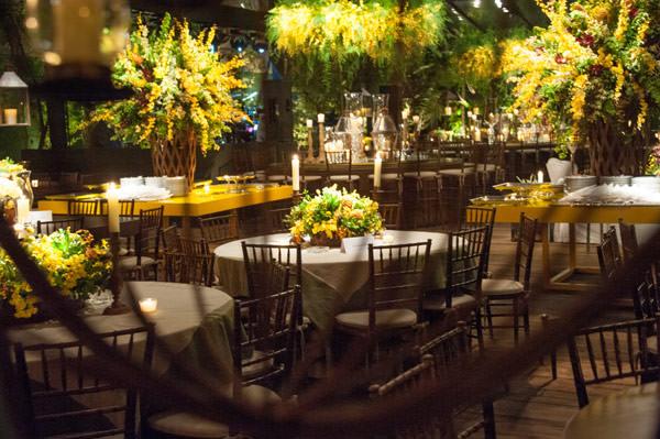 decoração casamento amarelo bossa nova