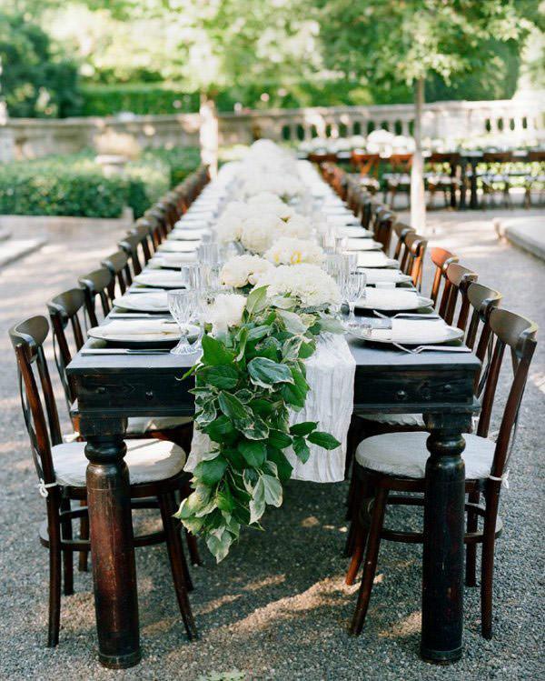 decoração casamento mesa guirlanda