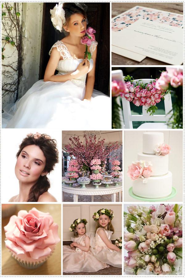 casamento floral rosa verde branco