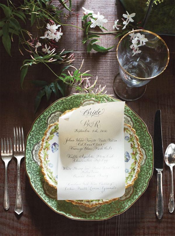 casamento-blake-lively-detalhe-prato-menu-mesa