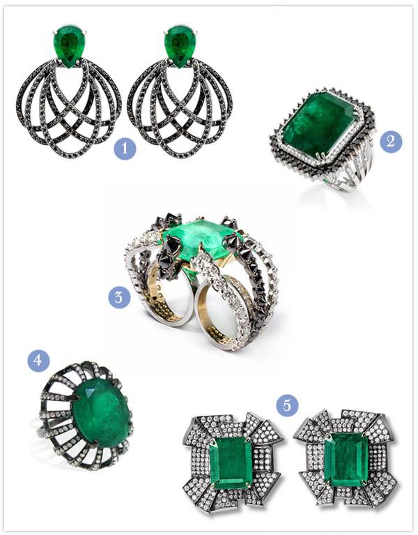 joias esmeralda diamante negro noivas madrinhas