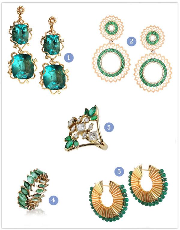 joias esmeralda ouro amarelo noivas madrinhas