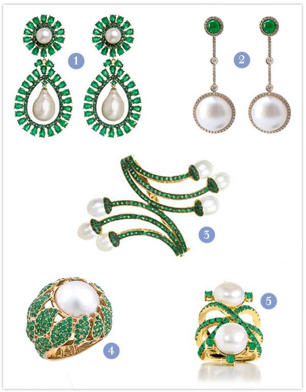 joias esmeralda perolas noivas madrinhas