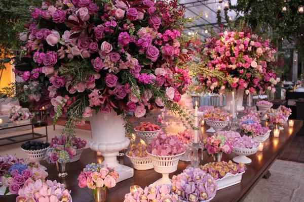 Decora??o de casamento em tons de rosa - Constance Zahn ...