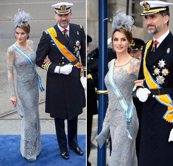 princesa-letizia-vestido-cinza-coroacao-holanda