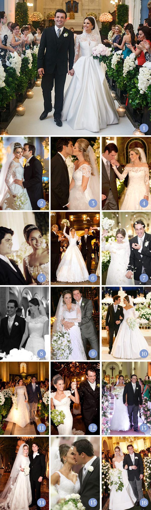 Retrospectiva 2013: Casamentos clássicos