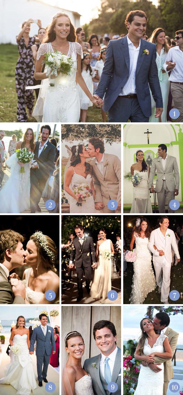 Retrospectiva 2013: Casamentos na praia
