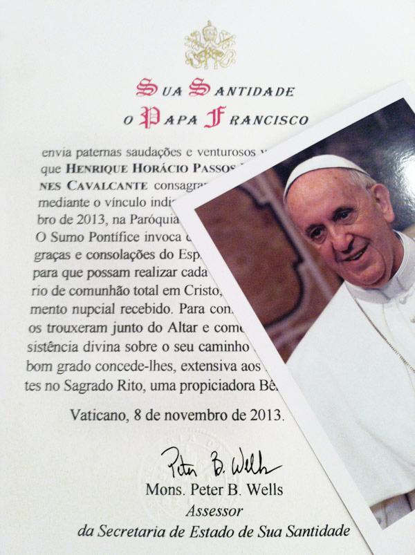 carta-papa-casamento-vaticano-barbara-henrique