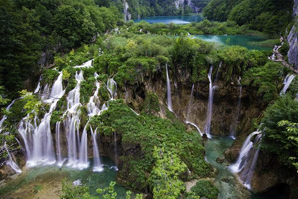 Plitvice Main Waterfalls Spring
