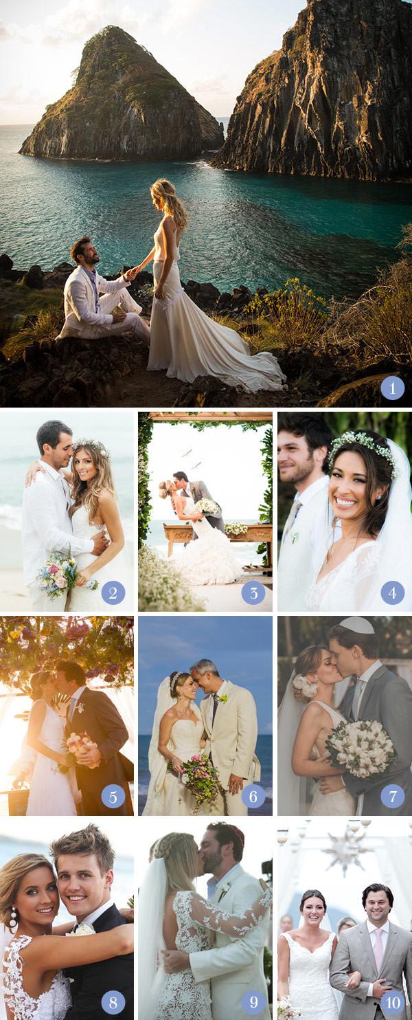 Retrospectiva 2014: casamentos na praia