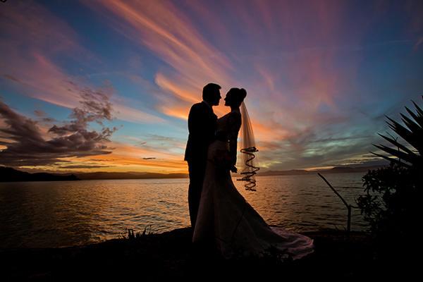 ensaio noivos por do sol hotel ponta dos ganchos