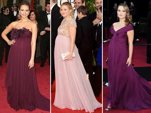 vestidos-madrinha-casamento-gravidas-roxo-lilas-jessica-alba-natalie-portman