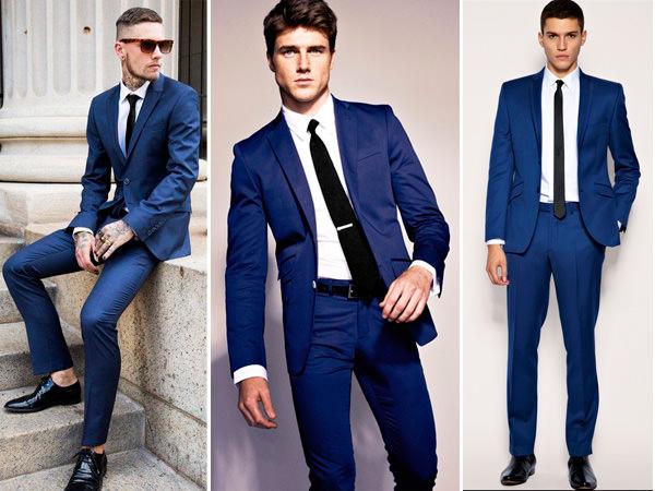 traje-noivo-terno-azul-gravata-preta