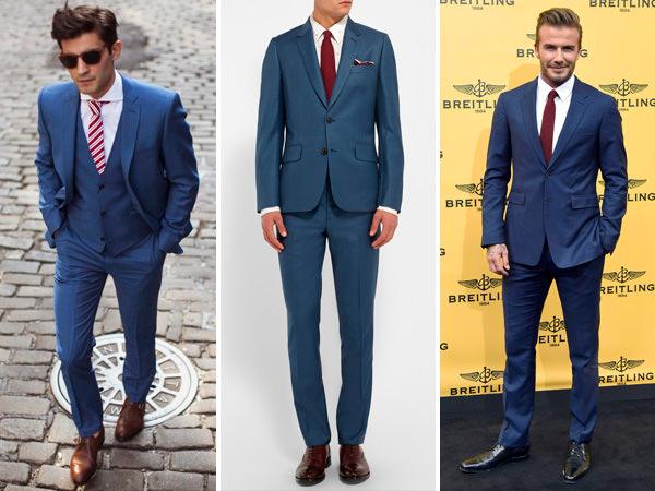 traje-noivo-terno-azul-gravata-vermelha-vinho-bordaux