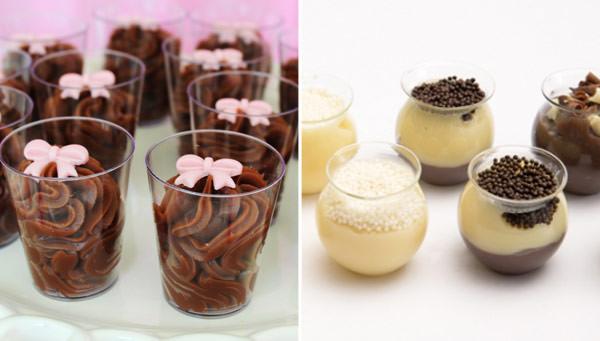 Brigadeiro no copinho com lacinho: Dona Chocolate | Brigadeiro no copinho de vidro: Fabiana d'Angelo