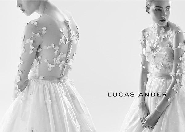 vestido de noiva campanha de lucas anderi folhas aplicadas