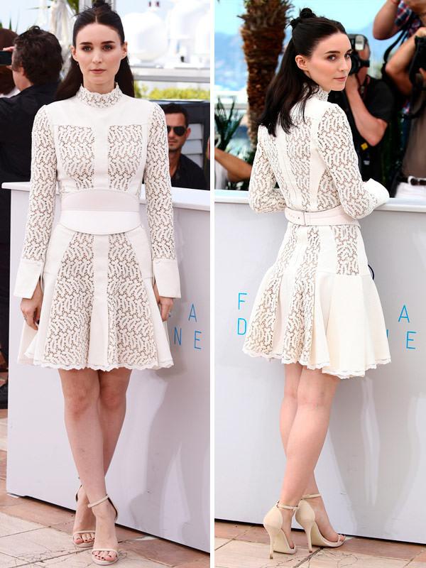 01-vestido-branco-rooney-mara-curto-alexander-mcqueen-inspiracao-casamento-civil-noivado