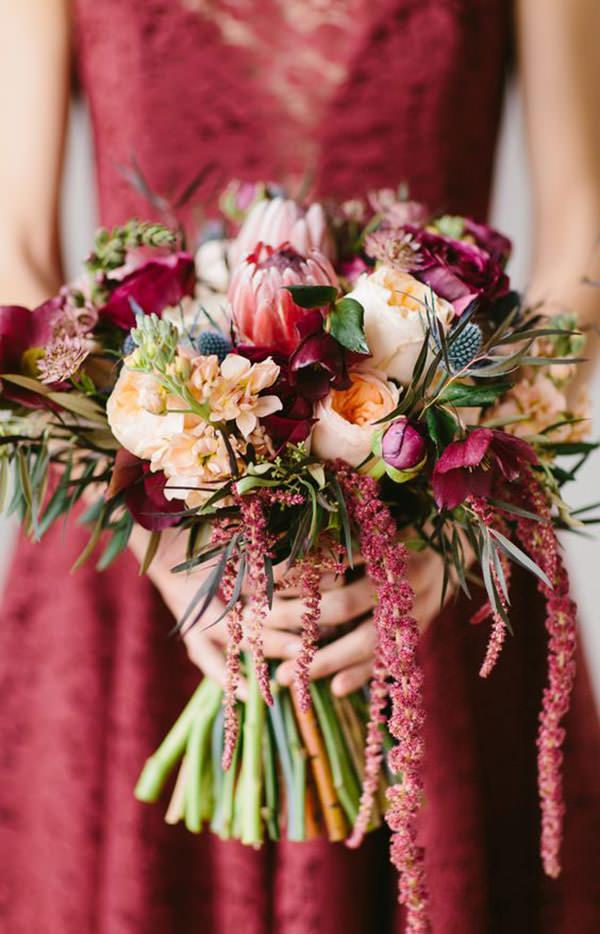 bouquets de noiva com protea