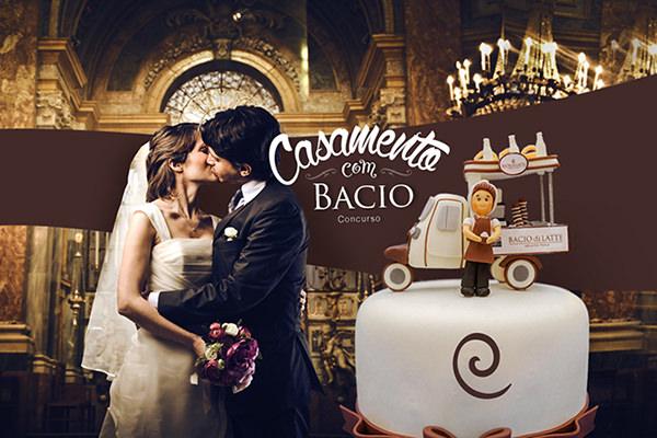 Concorra a um carrinho da Bacio di Latte para o seu casamento