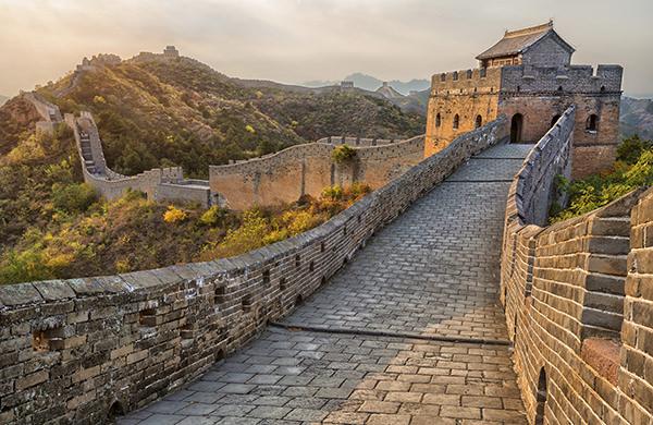 China pequim for A muralha da china vista da lua