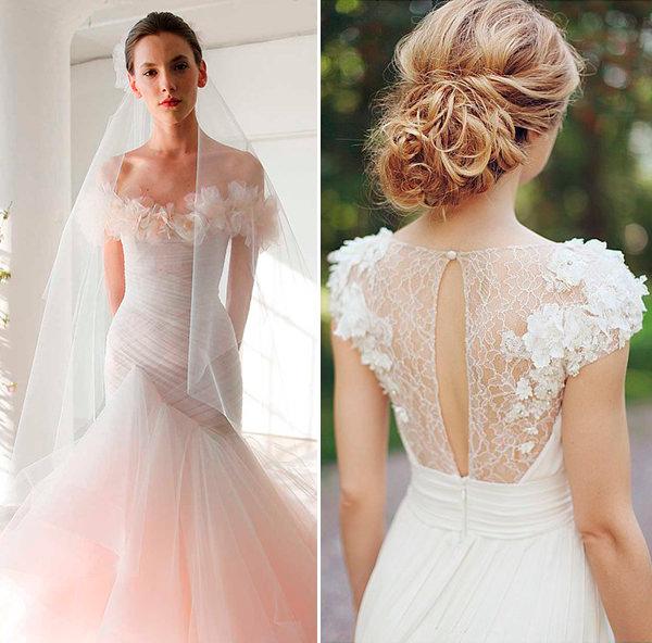 Tendência: vestido de noiva com aplicações de flores 3D ...
