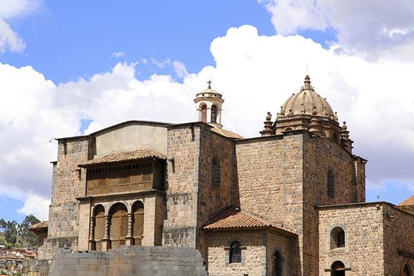 Qorikancha ruins and convent Santo Domingo in Cuzco, Peru.