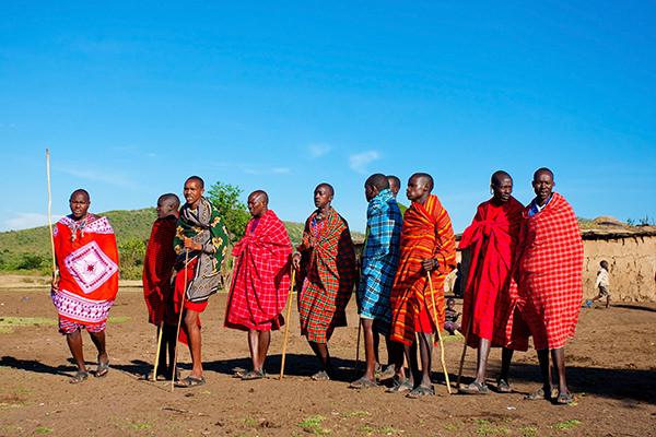 African Maasai warriors