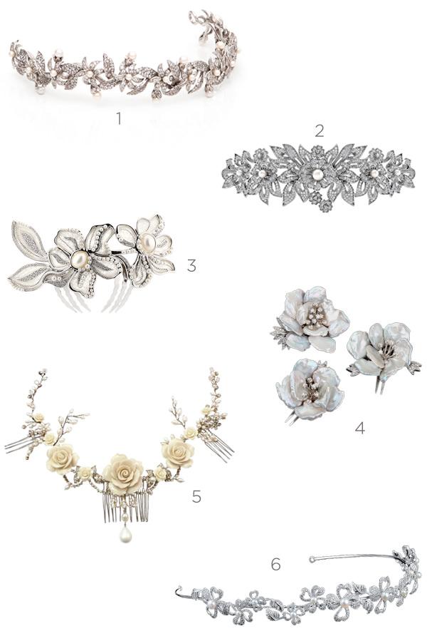 6 acessórios de cabeça com flores para noivas românticas