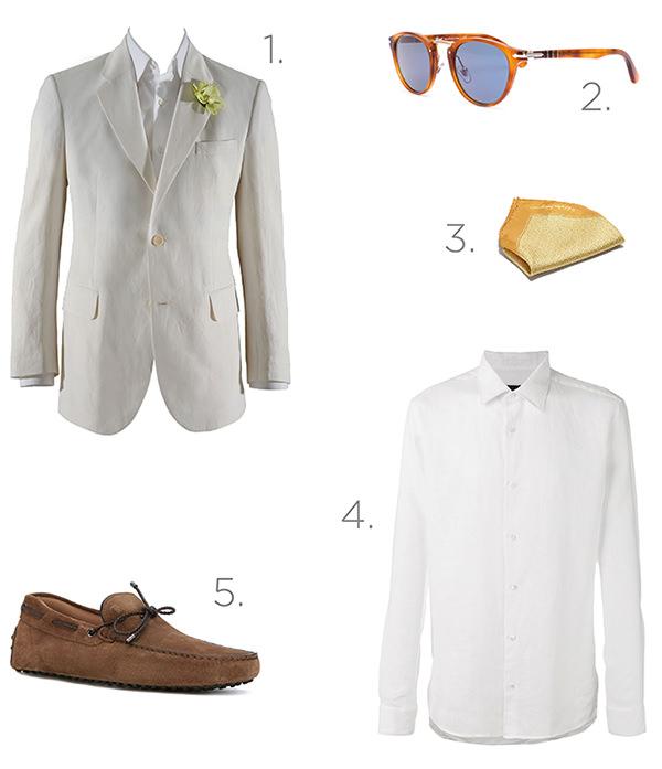 5 peças e acessórios para o noivo praiano