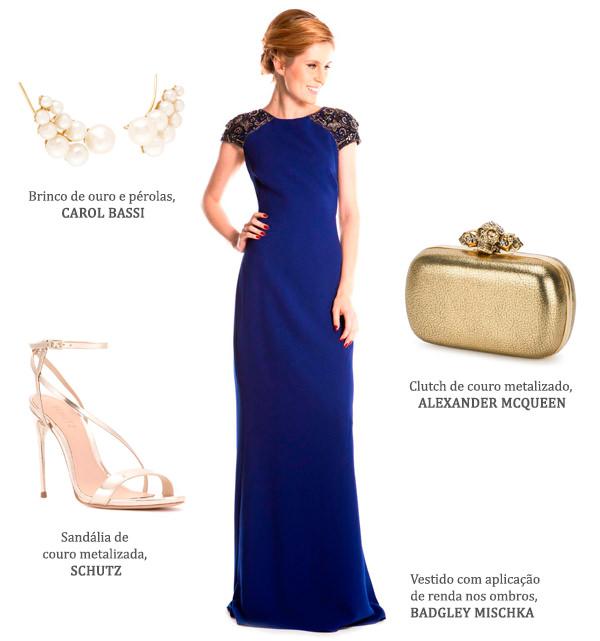 Look madrinha: vestidos azul marinho + acessórios