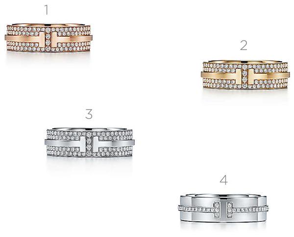f6e00255d8600 Modelo de ouro amarelo e diamantes no interior   3. Aliança de ouro branco  com diamantes no interior   4. Modelo de ouro branco e diamantes localizados