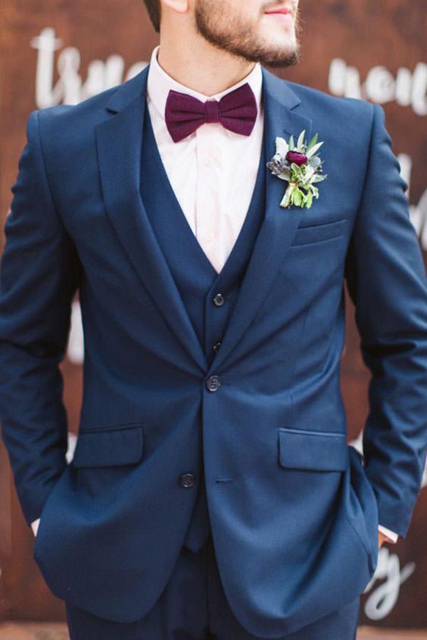 9 combinações e cores de gravata borboleta para noivo ...